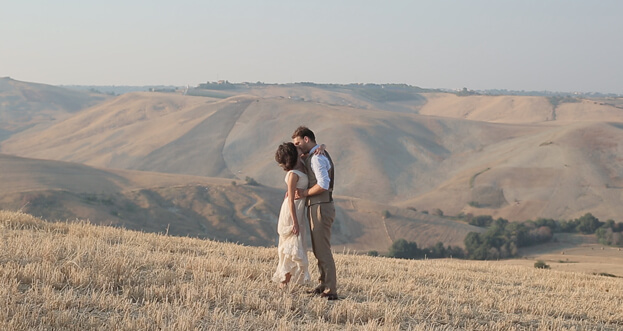 Max and Sia during their wedding in Abruzzo