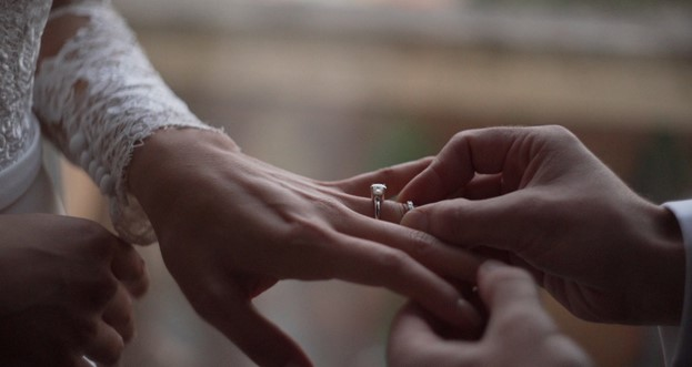 Un momento della cerimonia a Villa Ada, Roma